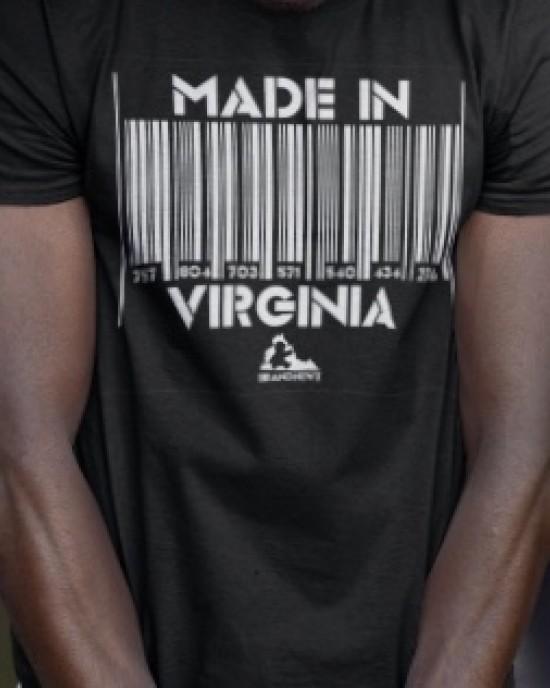 """""""Made In Virginia Barcode"""" Men's Tee"""