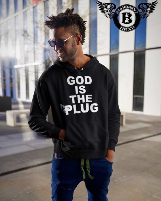 """""""God Is The Plug"""" Men's Hoodie"""