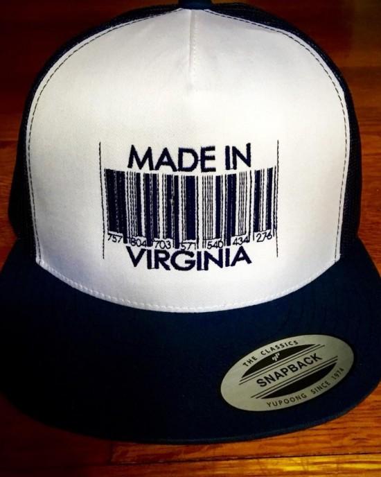 """Made In Virginia Barcode"" Trucker Hat"
